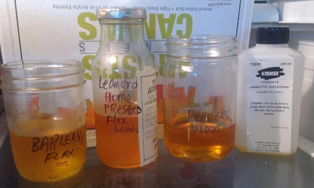 Washing Linseed OIl for Artists, FLAX OIL for Artists, WATER WASHING